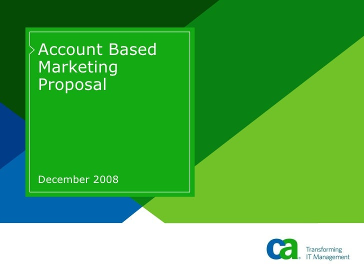 Account Based Marketing Proposal December 2008