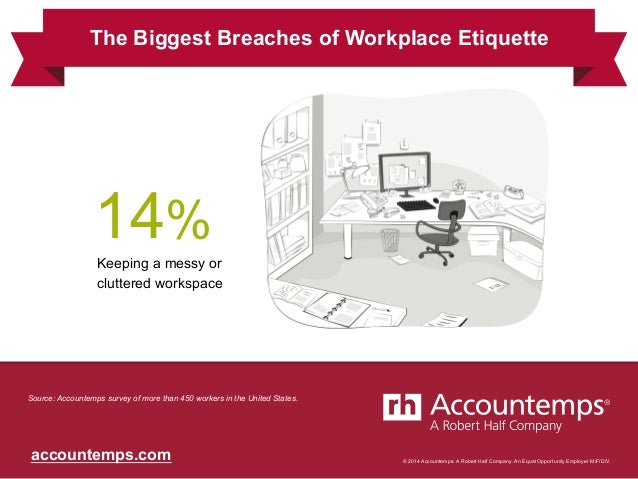© 2014 Accountemps. A Robert Half Company. An Equal Opportunity Employer M/F/D/V.accountemps.com Keeping a messy or clutte...