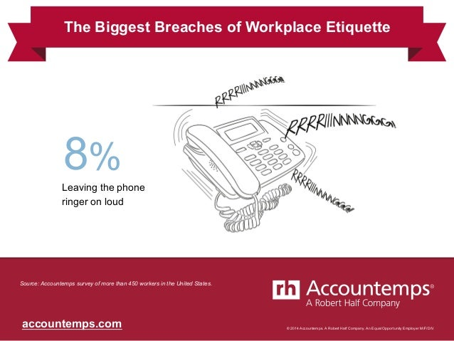 © 2014 Accountemps. A Robert Half Company. An Equal Opportunity Employer M/F/D/V.accountemps.com Leaving the phone ringer ...