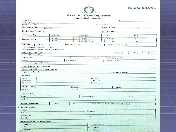 hbl account opening form pdf