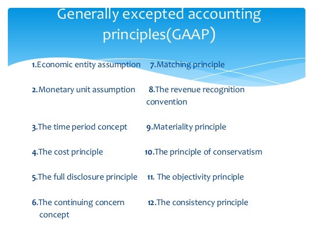 generally accepted accounting principles and horizontal Generally accepted accounting principles they should be followed on a horizontal basis from one accounting period to another to achieve compatibility.