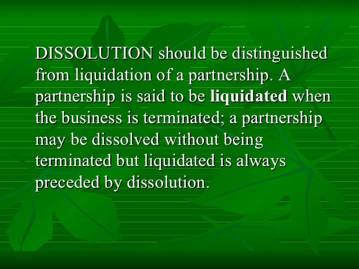 liquidation and dissolution Complete liquidations and related problems boris i bittker yale law school james s eustice sequences, the complete liquidation of a corporation might be however, legal dissolution of the corpora.