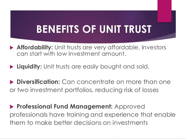 Property Unit Trust When Property Is Sold