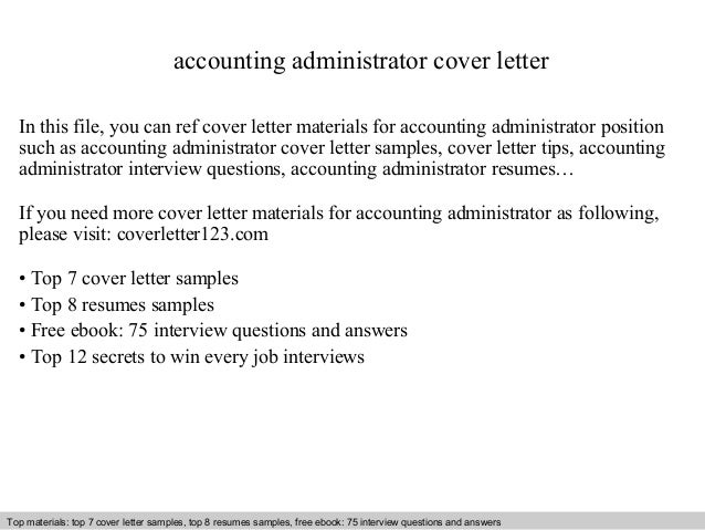 accounting administrator cover letter in this file you can ref cover letter materials for accounting. Resume Example. Resume CV Cover Letter