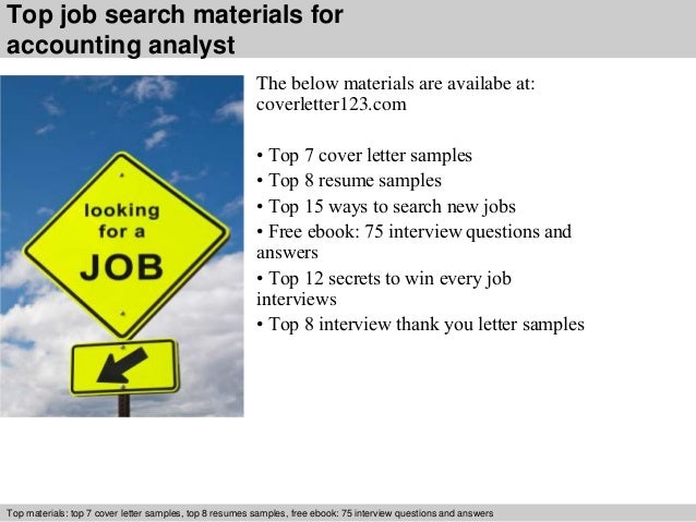 5 top job search materials for accounting analyst