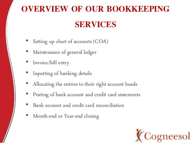 Accounting And Bookkeeping Services For US Business - Sample invoice for bookkeeping services