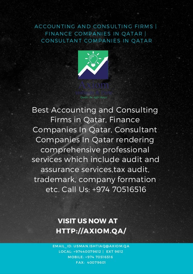 Accounting and consulting firms finance companies in qatar
