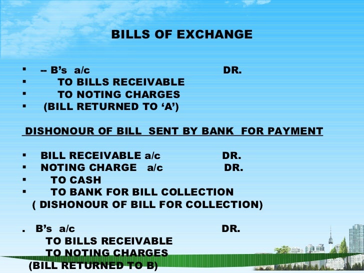 Accounting and finance ppt bec doms bagalkot mba finance – Bill Receivables