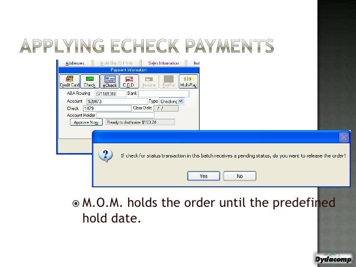 Accounting and M O M 7i