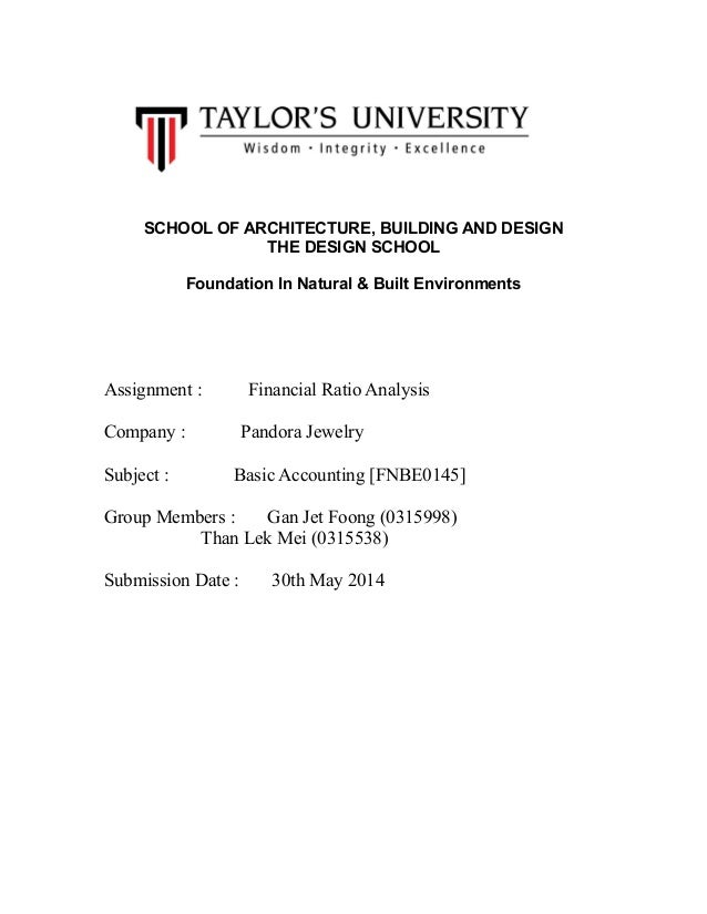 Accounting assignment 1