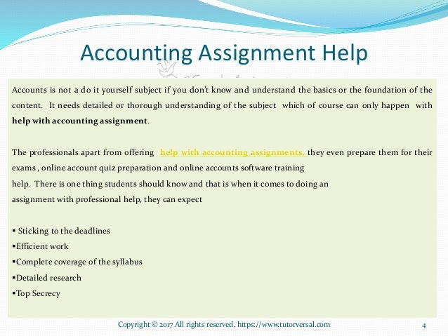 Accounting assignment help ppt 4 4 accounts is not a do it yourself solutioingenieria Image collections