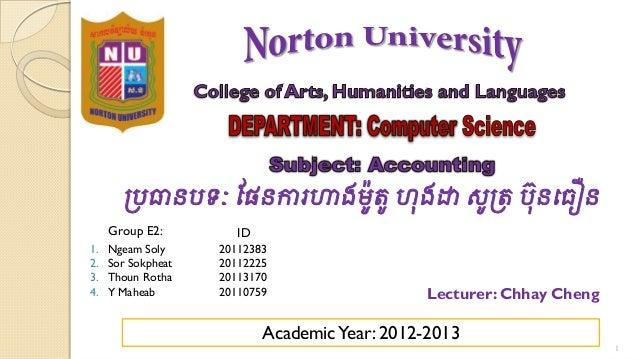 របធានបទៈ ផផនការហាងមូតូ ហុងដា សូរត បុ នធធឿន     Group E2:         ID1.   Ngeam Soly     201123832.   Sor Sokpheat   2011222...
