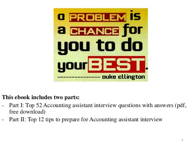 52 Accounting assistant interview questions pdf