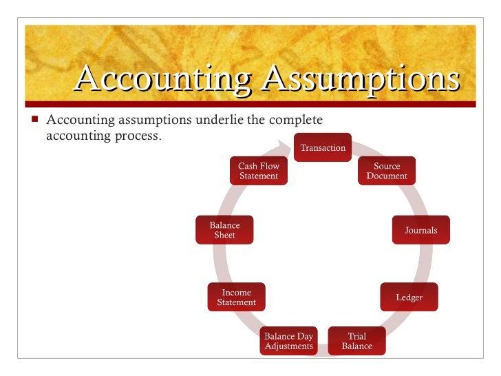 Accounting assumptions