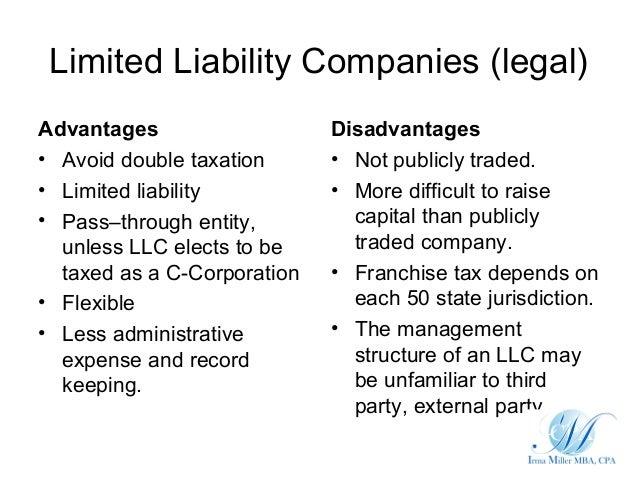 Limited Liability Companies LegalAdvantages