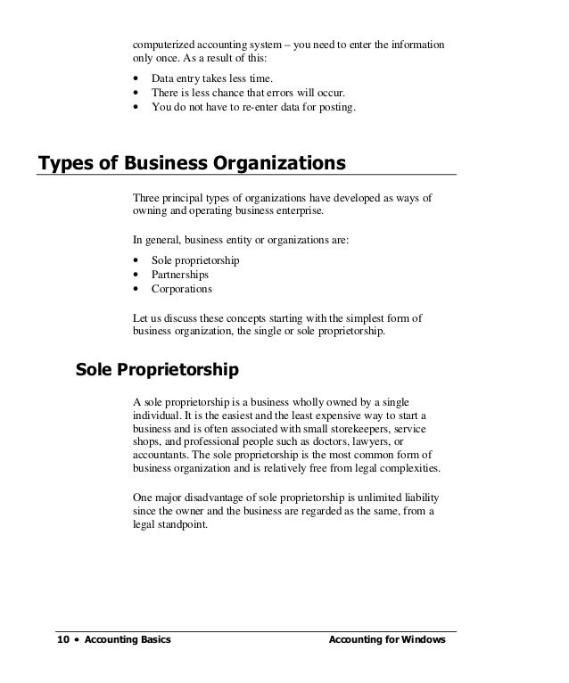 Accounting Basics Notes