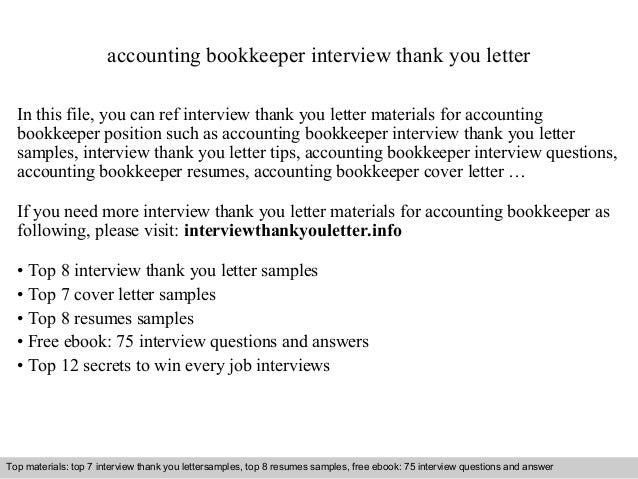 Interview Questions And Answers U2013 Free Download/ Pdf And Ppt File Accounting  Bookkeeper Interview Thank ...