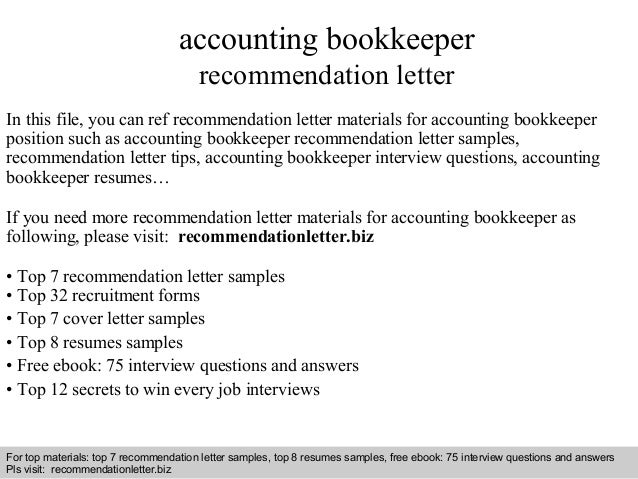 Beautiful Interview Questions And Answers U2013 Free Download/ Pdf And Ppt File  Accounting Bookkeeper Recommendation Letter ...