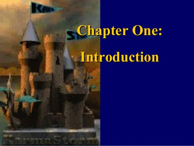 Chapter One:Chapter One: IntroductionIntroduction