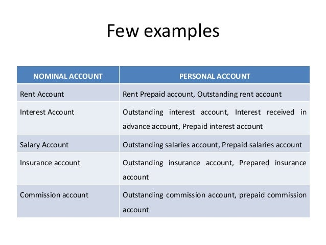 What are nominal accounts?