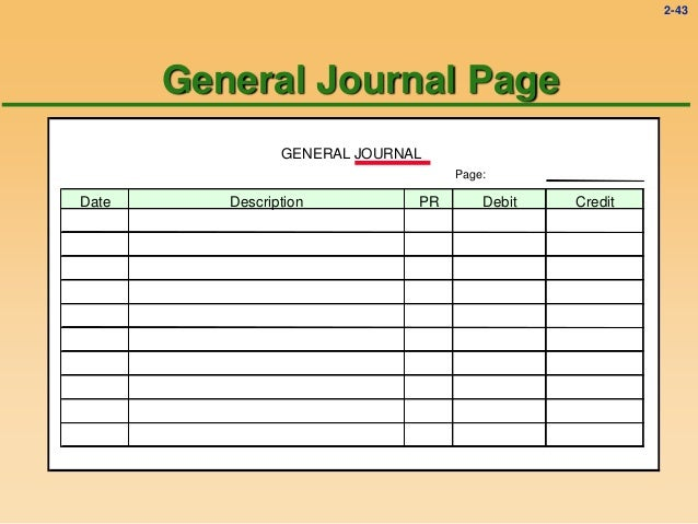 Accounting General Entry