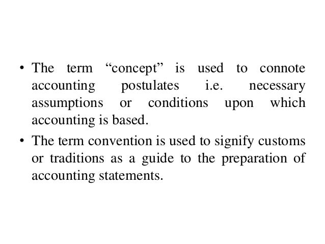Image Result For Accounting Concept And Convention