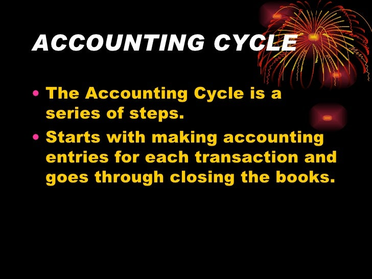 the nine steps of accounting cycle A brief introduction about accounting cycle  the accounting cycle refers to nine steps,  series of steps in recording an accounting event from the time.