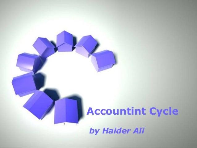 Page 1Accountint Cycleby Haider Ali