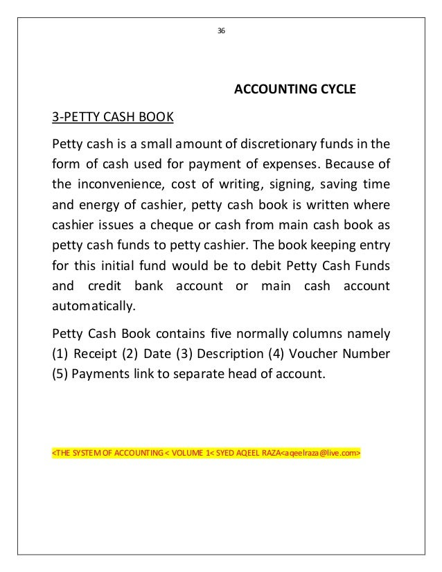 ... 36. 36 ACCOUNTING CYCLE 3 PETTY CASH ...  Example Of Petty Cash Voucher