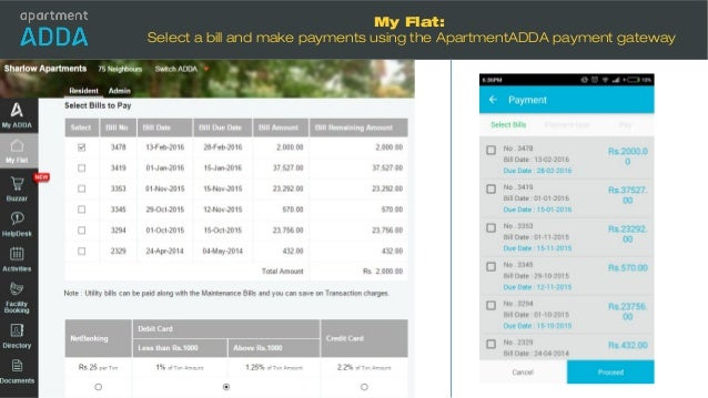 Apartment Accounting Demo Of Apartmentadda