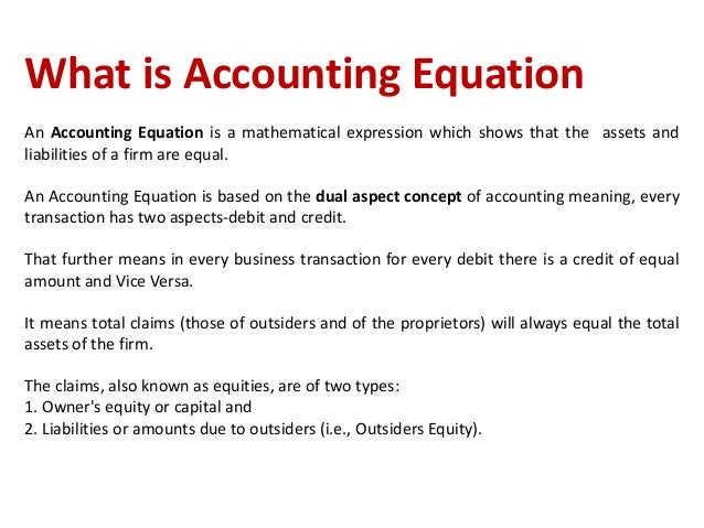 Accounting Equation: