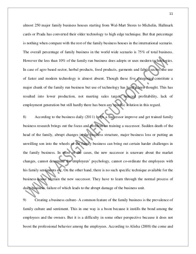 accounting family business essay sample from assignmentsupportcom es  technology   almost  major family business