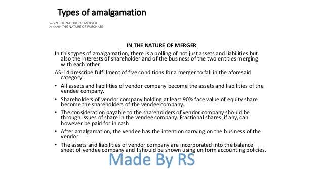 Amalgamation amalgamation absorbtion external reconstruction