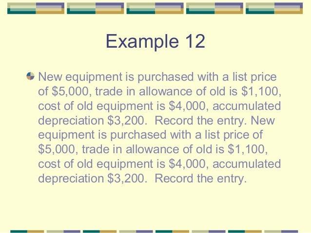 depreciation for equipment