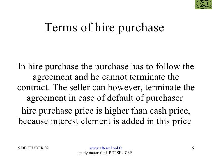 Accounting For Hire Purchase Transactions