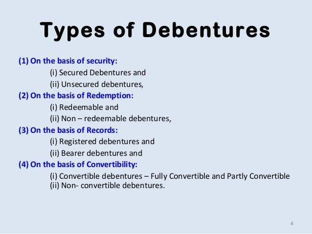 Use 'debenture' in a Sentence