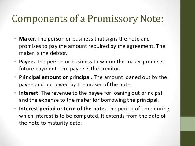 Accounting for promissory notes 07292013 – Business Promissory Note Template