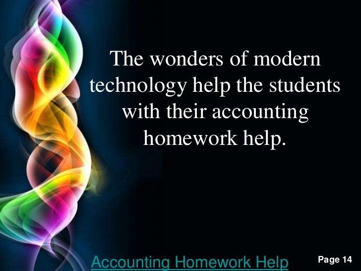 Accunting homework help