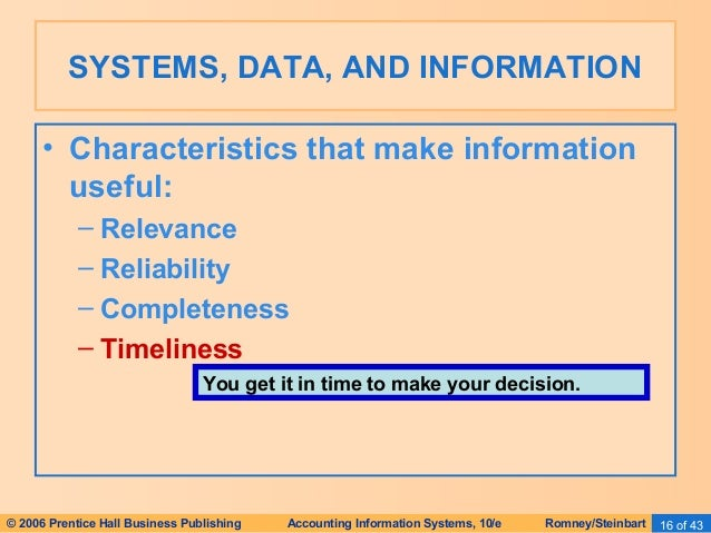 Accounting Information System Romney