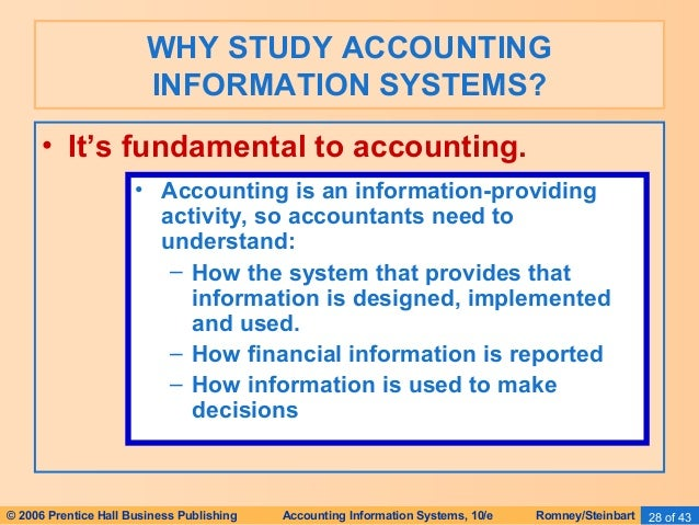 accounting information system study guide Year - 2018 accountants are extensive users of business information systems ( bis)  this unit of study is only offered in the professional accounting programs.