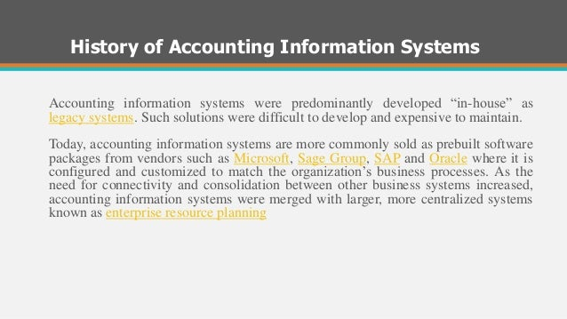 impact of information system on accounting Managerial performance this study investigated the mediation effect of  management accounting information system on the relationship between  knowledge of.