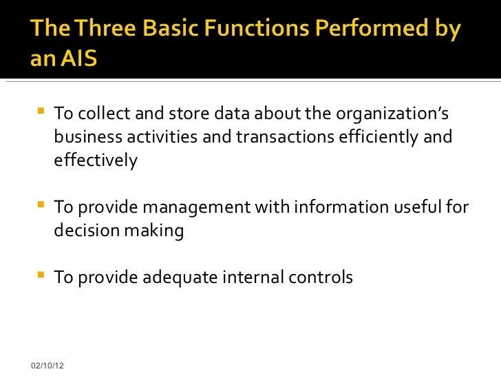 accounting information systems an overview The college of business and the department of accounting and information systems have course and other requirements for the phd degree that, in total, form a student's program of study these requirements are summarized below and provided in more detail in our student manual.