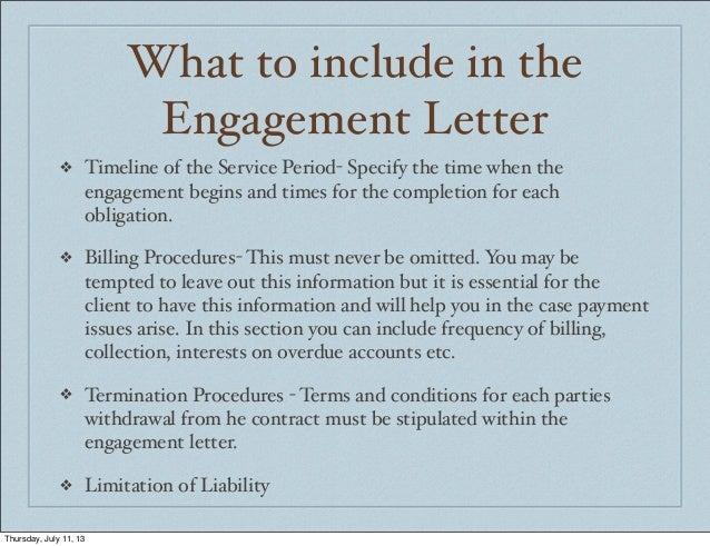 Accounting In Jamaica Engagement Letters