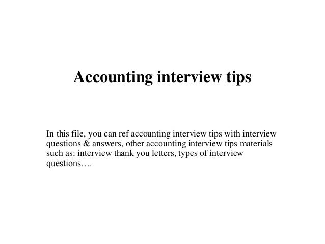 Accountant interview
