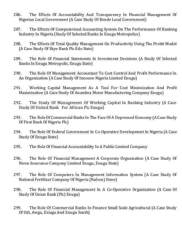 prospects of computerized accounting in nigeria Accounting project topics and materials  application of fair value accounting in nigeria:  impact of computerized accounting system on employment in financial.
