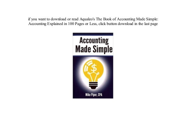 Ebook download accounting free made easy