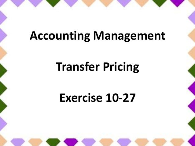 transfer pricing accounting