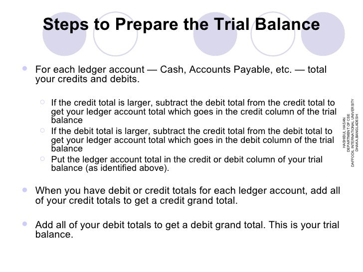 how to prepare final accounts from trial balance