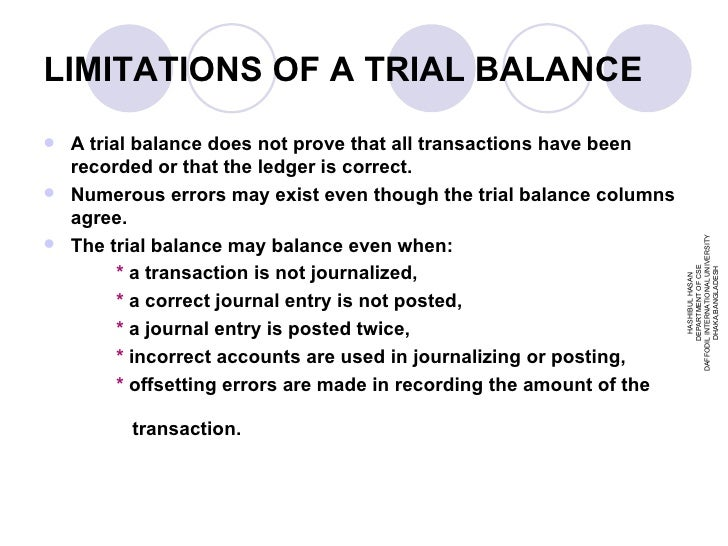 trial balance in accounting pdf
