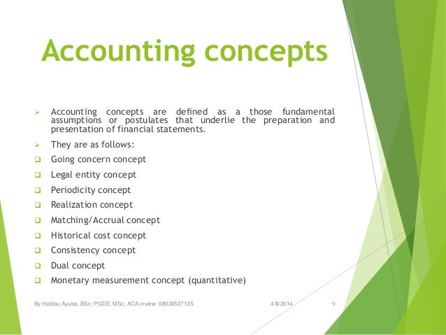 Basic Accounting Concepts and Principles essay
